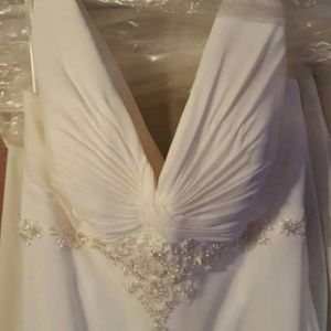 """Venus"" Chiffon  Wedding Dress from Elegant Lace B"